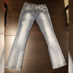 Natural fade Miss Me jeans, size 26